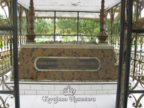 The Grave of Sultan Sulaiman Shariful Alamshah in Sulaimaniyah Mosque compound, Perbaungan, Serdang